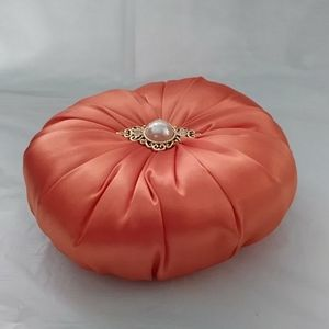 Other - Pincushion Orange Satin Vintage Cabochon Brooch